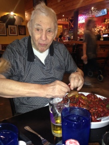 Papa and crawfish